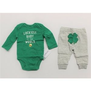 "Carter's ""Luckiest Baby In The World"" Bodysuit Set"